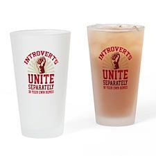 Introverts Unite Drinking Glass