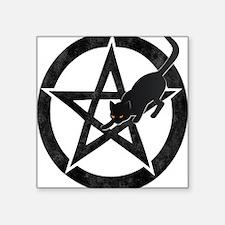 Wicca Pentacle - Black Cat Sticker
