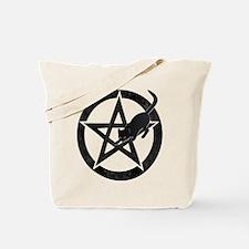 Wicca Pentacle - Black Cat Tote Bag
