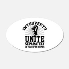 Introverts Unite 22x14 Oval Wall Peel
