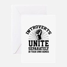 Introverts Unite Greeting Card