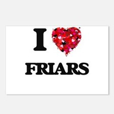 I love Friars Postcards (Package of 8)