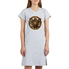 Gold Pentacle and Roses Women's Nightshirt
