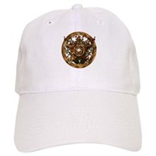 Gold Pentacle and Roses Baseball Cap