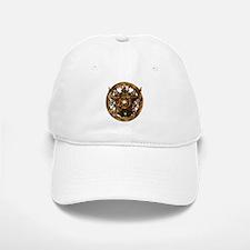 Gold Pentacle and Roses Baseball Cap