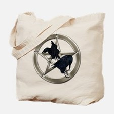 Silver Raven Pentacle Tote Bag