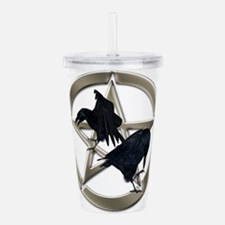 Silver Raven Pentacle Acrylic Double-wall Tumbler