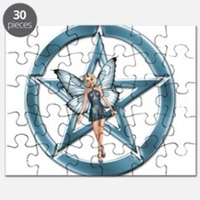 Blue Pentacle Fairy Puzzle