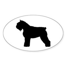 Bouvier des Flandres Dog Oval Decal