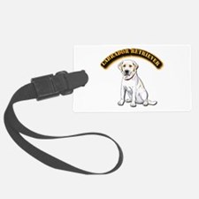 Labrador Retriever with Text Luggage Tag