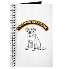 Labrador Retriever with Text Journal