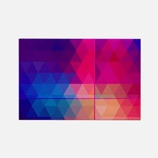 Colorful Abstract Geometric Patte Rectangle Magnet
