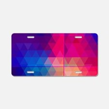 Colorful Abstract Geometric Aluminum License Plate