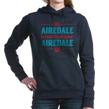 Cuter Airedale Women's Hooded Sweatshirt