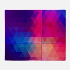 Colorful Abstract Geometric Pattern Throw Blanket