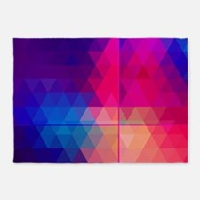 Colorful Abstract Geometric Pattern 5'x7'Area Rug