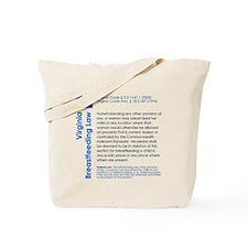 Breastfeeding In Public Law - Virginia Tote Bag