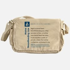 Breastfeeding In Public Law - Maine Messenger Bag