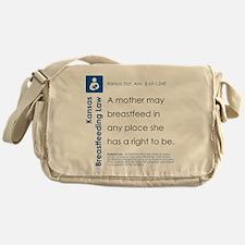 Breastfeeding In Public Law - Kansas Messenger Bag