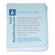 Breastfeeding In Public Law - Iowa baby blanket