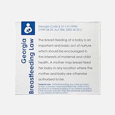 Breastfeeding In Public Law - Georgia Throw Blanke