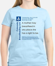 Breastfeeding In Public Law - Colorado T-Shirt