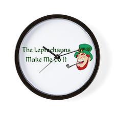 Leprechauns Make Me Do It Wall Clock