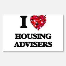 I love Housing Advisers Decal