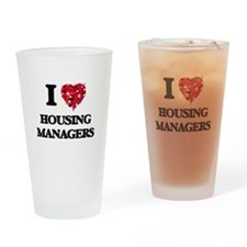 I love Housing Managers Drinking Glass