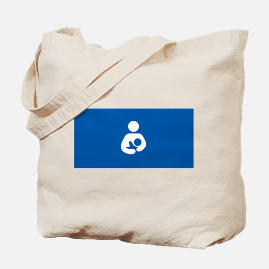 breastfeeding icon rectangle Tote Bag
