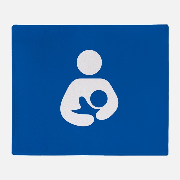 breastfeeding icon rectangle Throw Blanket