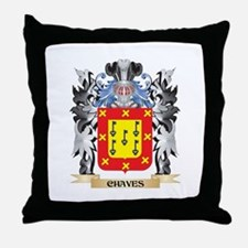 Chaves Coat of Arms - Family Crest Throw Pillow