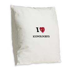 I love Iconologists Burlap Throw Pillow