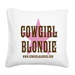 Cowgirl Blondie's Western Boutique Square Canvas P