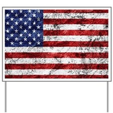Grunge American Flag Yard Sign