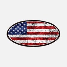 Grunge American Flag Patch