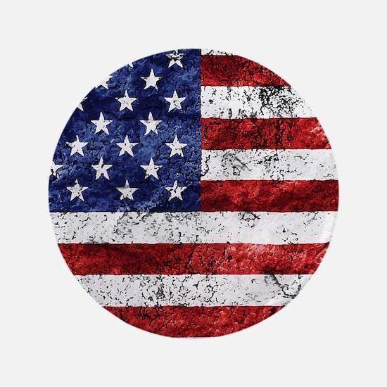 Grunge American Flag Button