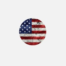 Grunge American Flag Mini Button (10 pack)
