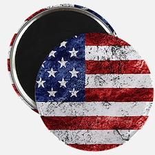 Grunge American Flag Magnets