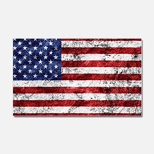 Grunge American Flag Car Magnet 20 x 12