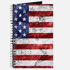 Grunge American Flag Journal