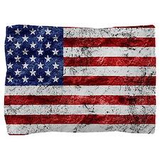 Grunge American Flag Pillow Sham