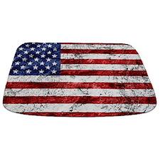 Grunge American Flag Bathmat