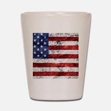 Grunge American Flag Shot Glass