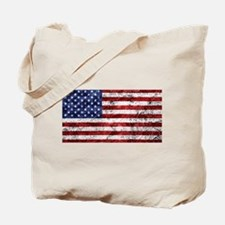Grunge American Flag Tote Bag