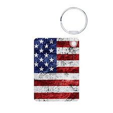 Grunge American Flag Keychains