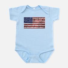 Grunge American Flag Body Suit