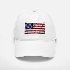 Grunge American Flag Baseball Baseball Baseball Cap