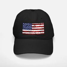 Grunge American Flag Baseball Hat