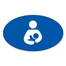 breastfeeding icon rectangle Decal